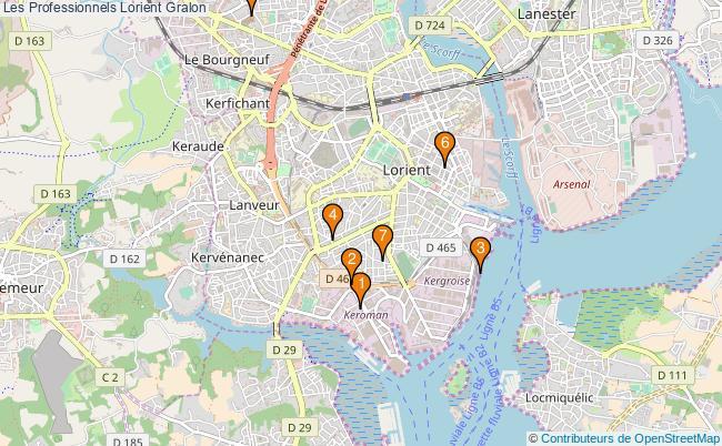 plan Les Professionnels Lorient Associations Les Professionnels Lorient : 7 associations