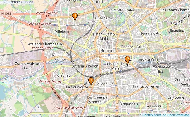 plan Liant Rennes Associations Liant Rennes : 3 associations