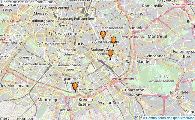 plan Liberté de circulation Paris Associations liberté de circulation Paris : 5 associations