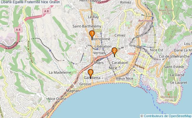plan Liberté Egalité Fraternité Nice Associations Liberté Egalité Fraternité Nice : 3 associations