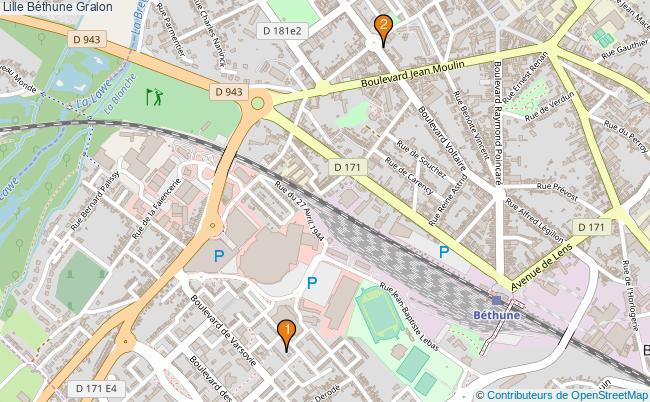 plan Lille Béthune Associations Lille Béthune : 2 associations