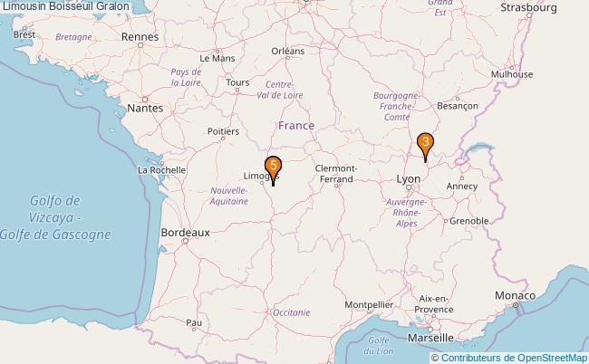 plan Limousin Boisseuil Associations limousin Boisseuil : 6 associations