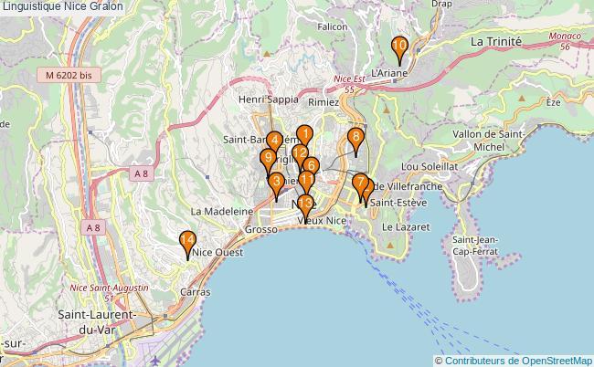 plan Linguistique Nice Associations linguistique Nice : 16 associations
