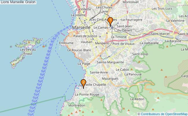 plan Lions Marseille Associations lions Marseille : 2 associations