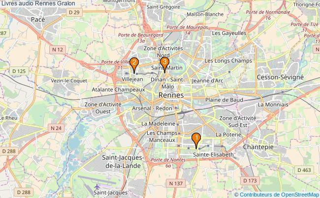 plan Livres audio Rennes Associations livres audio Rennes : 3 associations