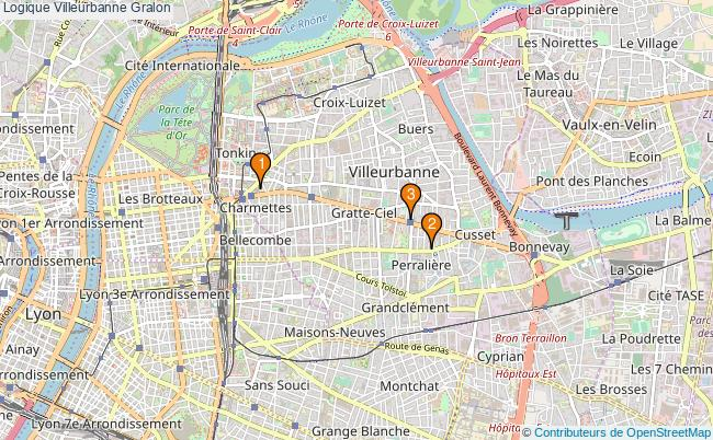 plan Logique Villeurbanne Associations logique Villeurbanne : 3 associations