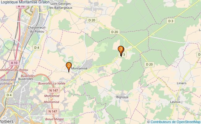 plan Logistique Montamisé Associations logistique Montamisé : 3 associations