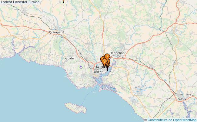 plan Lorient Lanester Associations Lorient Lanester : 11 associations