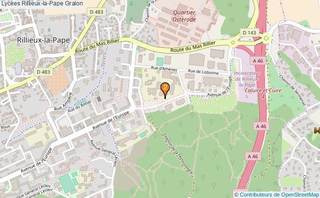 plan Lycées Rillieux-la-Pape Associations lycées Rillieux-la-Pape : 2 associations
