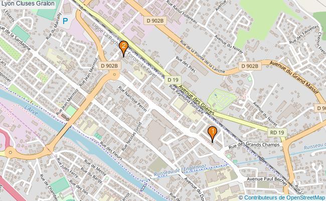 plan Lyon Cluses Associations Lyon Cluses : 2 associations