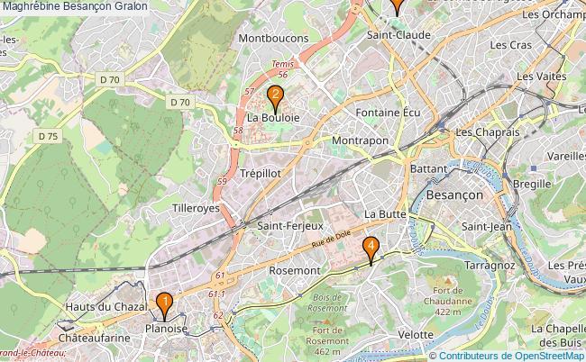 plan Maghrébine Besançon Associations maghrébine Besançon : 4 associations