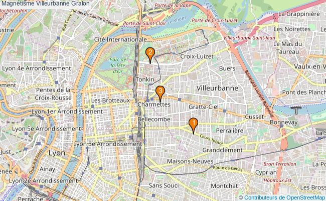plan Magnétisme Villeurbanne Associations Magnétisme Villeurbanne : 3 associations