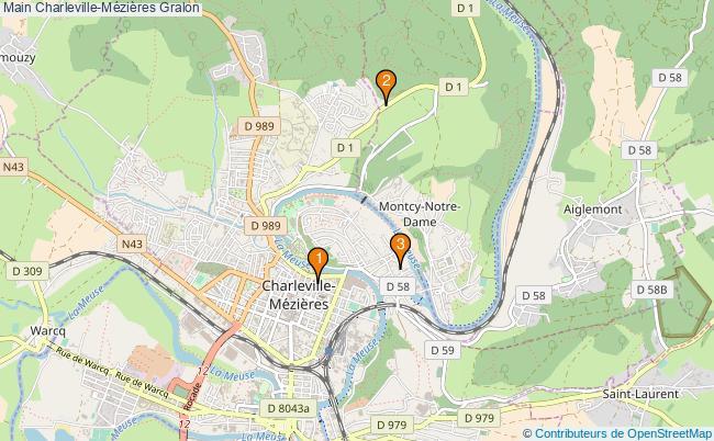 plan Main Charleville-Mézières Associations Main Charleville-Mézières : 3 associations