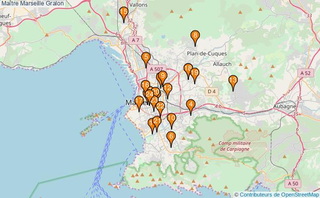 plan Maître Marseille Associations Maître Marseille : 24 associations
