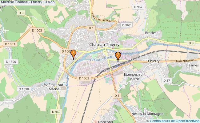 plan Maitrîse Château-Thierry Associations maitrîse Château-Thierry : 3 associations
