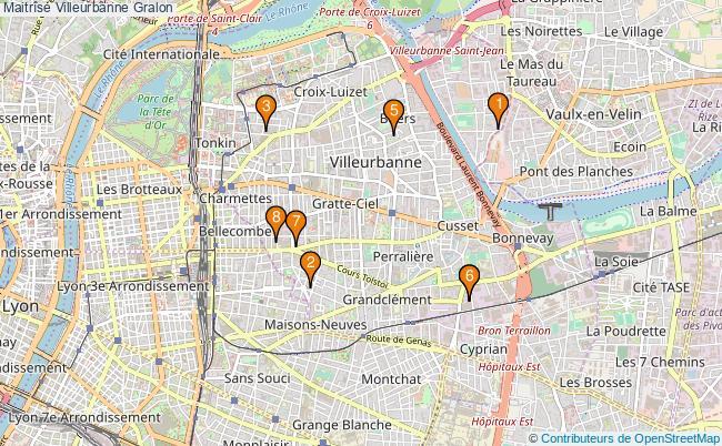 plan Maitrîse Villeurbanne Associations maitrîse Villeurbanne : 8 associations