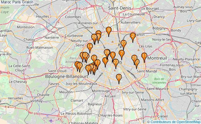 plan Maroc Paris Associations Maroc Paris : 255 associations