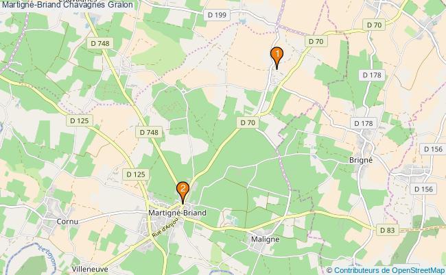 plan Martigné-Briand Chavagnes Associations Martigné-Briand Chavagnes : 2 associations