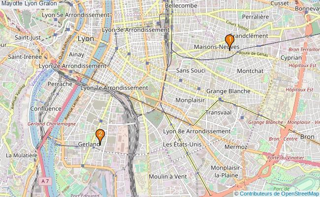 plan Mayotte Lyon Associations Mayotte Lyon : 2 associations