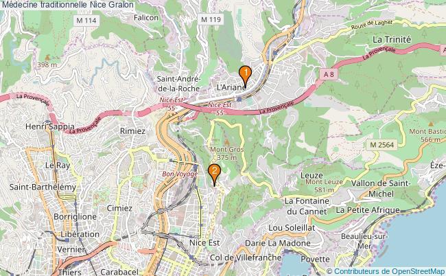 plan Médecine traditionnelle Nice Associations médecine traditionnelle Nice : 2 associations