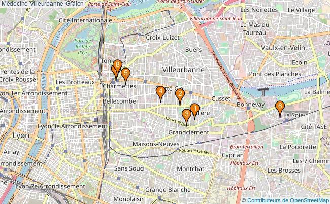 plan Médecine Villeurbanne Associations médecine Villeurbanne : 9 associations