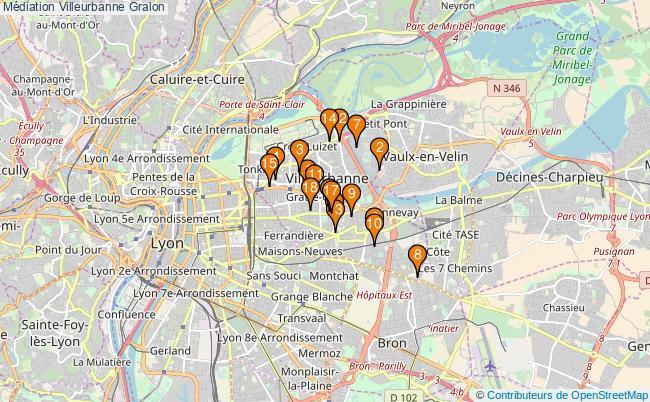 plan Médiation Villeurbanne Associations médiation Villeurbanne : 20 associations