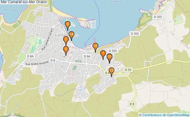 plan Mer Camaret-sur-Mer Associations Mer Camaret-sur-Mer : 15 associations