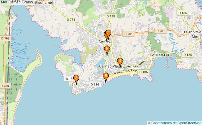 plan Mer Carnac Associations Mer Carnac : 6 associations