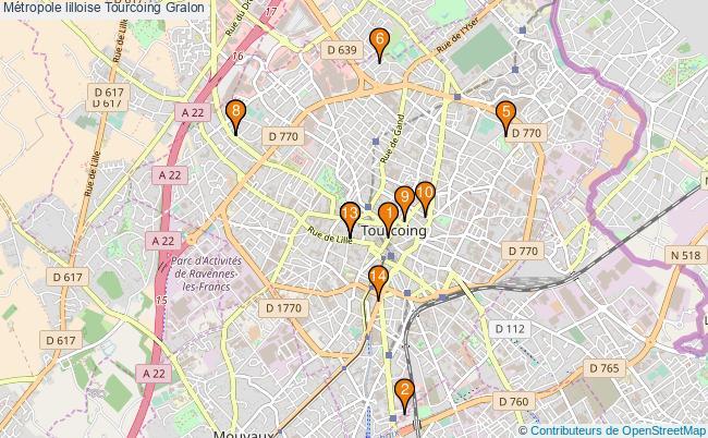 plan Métropole lilloise Tourcoing Associations Métropole lilloise Tourcoing : 14 associations