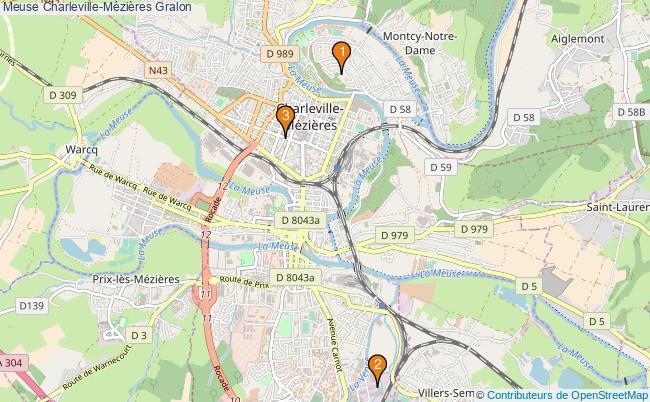 plan Meuse Charleville-Mézières Associations Meuse Charleville-Mézières : 3 associations