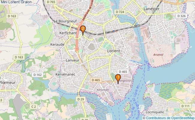 plan Mini Lorient Associations Mini Lorient : 2 associations