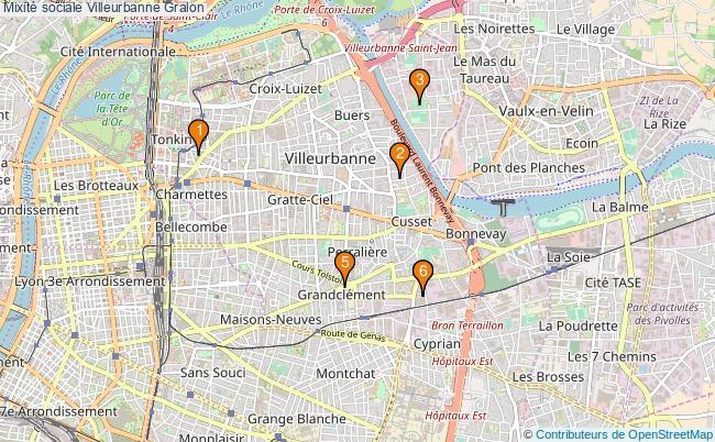 plan Mixité sociale Villeurbanne Associations mixité sociale Villeurbanne : 6 associations