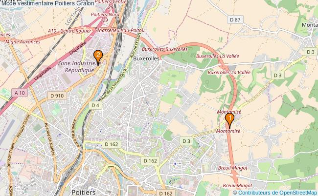 plan Mode vestimentaire Poitiers Associations mode vestimentaire Poitiers : 2 associations