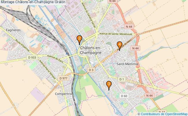 plan Montage Châlons-en-Champagne Associations montage Châlons-en-Champagne : 4 associations