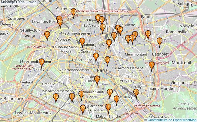 plan Montage Paris Associations montage Paris : 209 associations