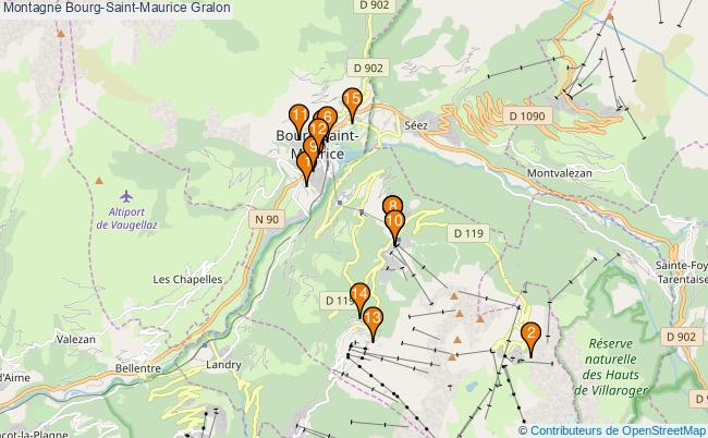 plan Montagne Bourg-Saint-Maurice Associations Montagne Bourg-Saint-Maurice : 15 associations
