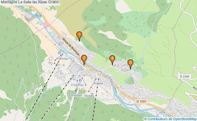 plan Montagne La Salle les Alpes Associations Montagne La Salle les Alpes : 4 associations
