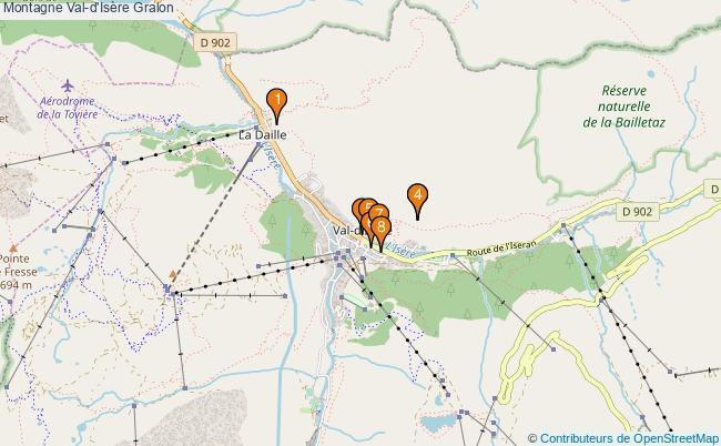 plan Montagne Val-d'Isère Associations Montagne Val-d'Isère : 8 associations