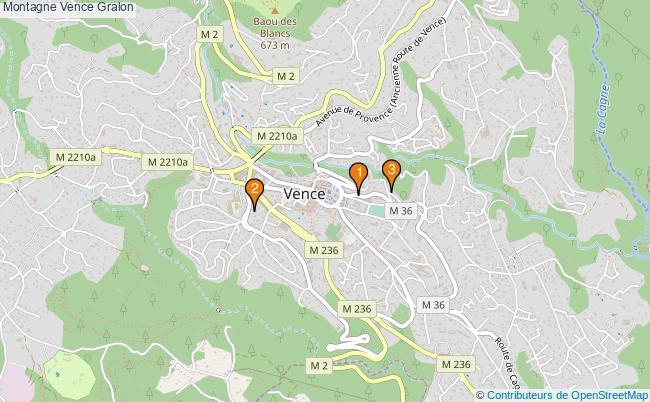 plan Montagne Vence Associations Montagne Vence : 3 associations