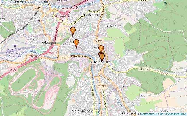 plan Montbéliard Audincourt Associations Montbéliard Audincourt : 10 associations