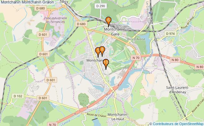 plan Montchanin Montchanin Associations montchanin Montchanin : 10 associations
