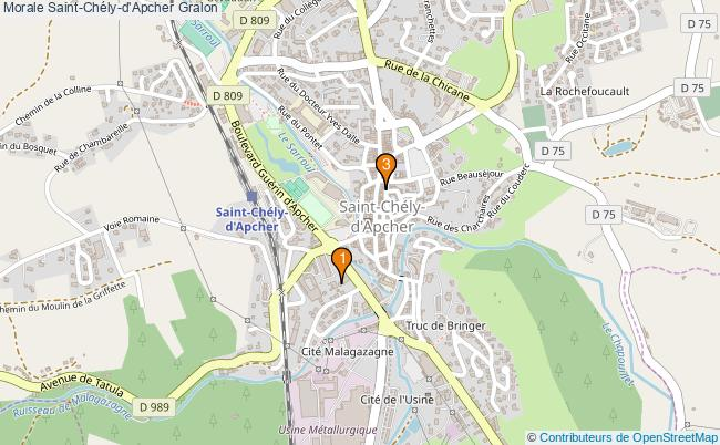 plan Morale Saint-Chély-d'Apcher Associations morale Saint-Chély-d'Apcher : 3 associations