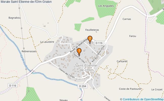 plan Morale Saint-Etienne-de-l'Olm Associations morale Saint-Etienne-de-l'Olm : 2 associations