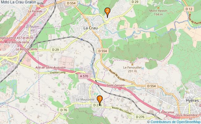 plan Moto La Crau Associations moto La Crau : 3 associations