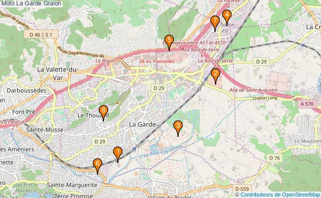 plan Moto La Garde Associations moto La Garde : 9 associations