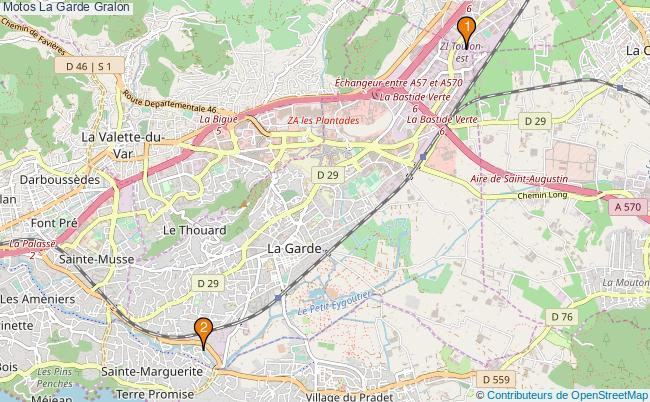 plan Motos La Garde Associations motos La Garde : 3 associations