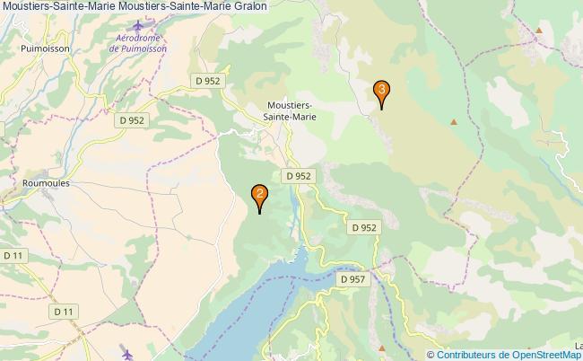 plan Moustiers-Sainte-Marie Moustiers-Sainte-Marie Associations Moustiers-Sainte-Marie Moustiers-Sainte-Marie : 3 associations