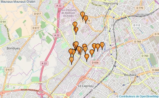 plan Mouvaux Mouvaux Associations Mouvaux Mouvaux : 22 associations