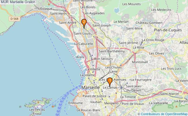 plan MUR Marseille Associations MUR Marseille : 2 associations