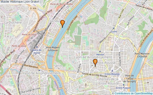 plan Musée Historique Lyon Associations Musée Historique Lyon : 2 associations
